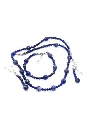 Lapis Lazuli Doğaltaş Set