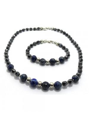 Lapis Lazuli Doğaltaş Kristal Boncuk Set