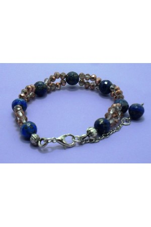 Lapis Lazuli Kristal Boncuk Bileklik